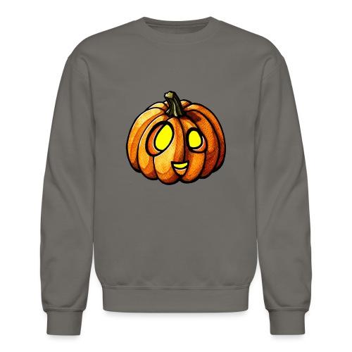 Pumpkin Halloween watercolor scribblesirii - Crewneck Sweatshirt