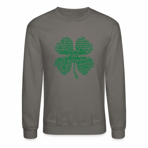 Shamrock Word Cloud - Crewneck Sweatshirt