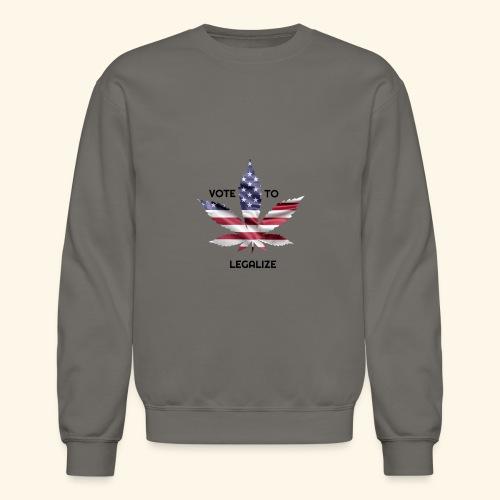 VOTE TO LEGALIZE - AMERICAN CANNABISLEAF SUPPORT - Crewneck Sweatshirt