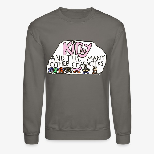 Kirby and the many other characters - Crewneck Sweatshirt