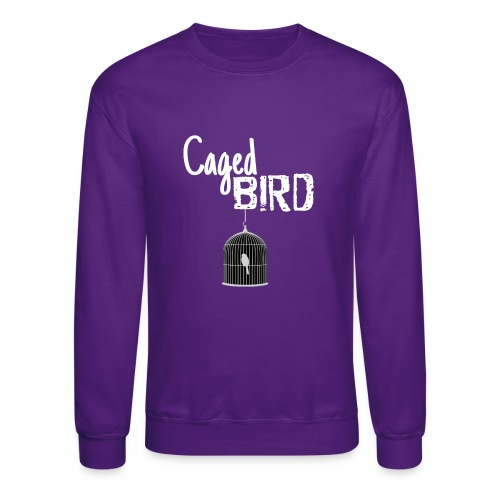 Caged Bird Abstract Design - Crewneck Sweatshirt
