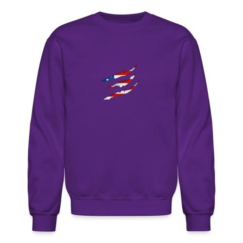 3D American Flag Claw Marks T-shirt for Men - Crewneck Sweatshirt