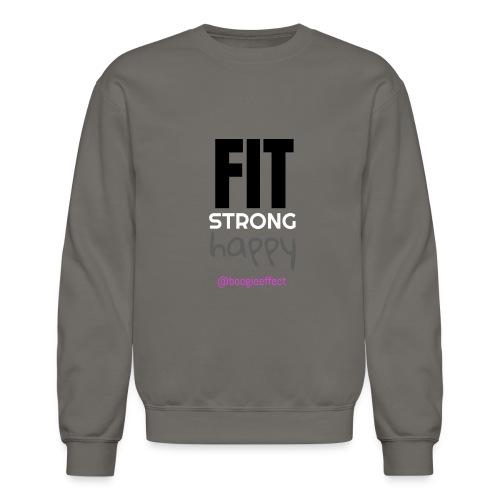 fit strong happy colour - Crewneck Sweatshirt