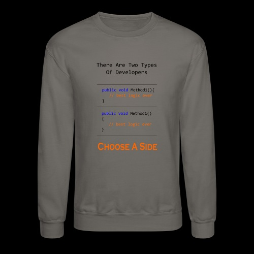 Code Styling Preference Shirt - Crewneck Sweatshirt