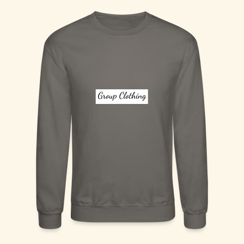Cursive Black and White Hoodie - Unisex Crewneck Sweatshirt