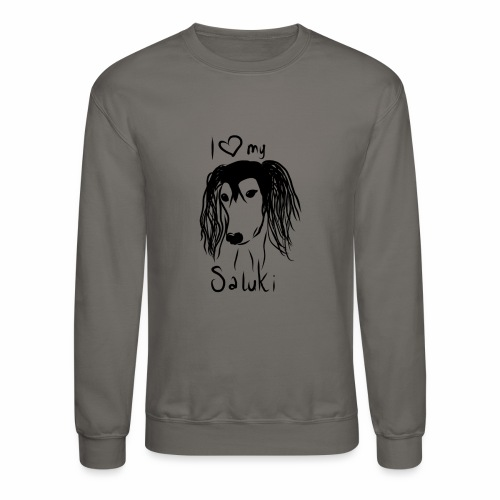 I love my saluki - Crewneck Sweatshirt
