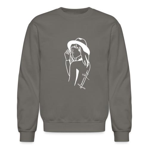 Minimal White Line - Unisex Crewneck Sweatshirt
