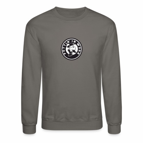 Solid Puttin' In Work Logo - Crewneck Sweatshirt