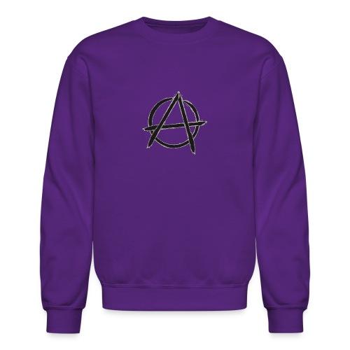 Anarchy in black silver - Crewneck Sweatshirt