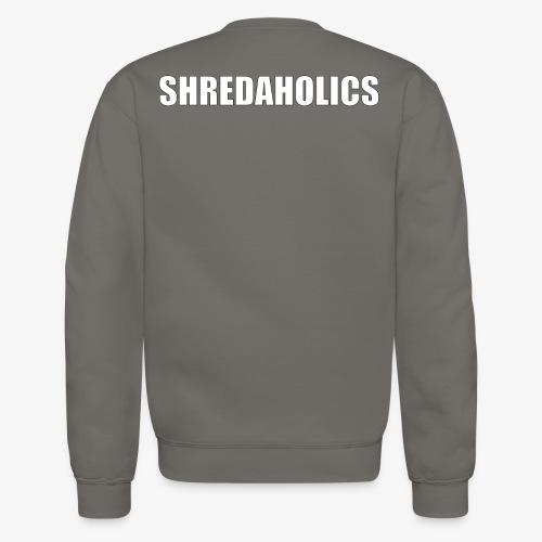 SHREDAHOLICS White - Crewneck Sweatshirt