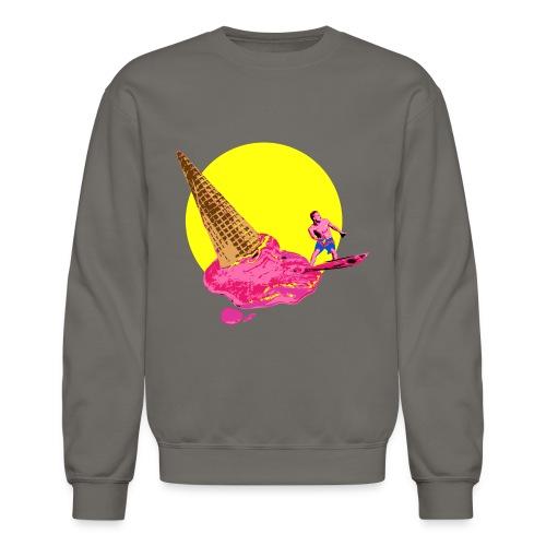 ice cream surfer - Unisex Crewneck Sweatshirt
