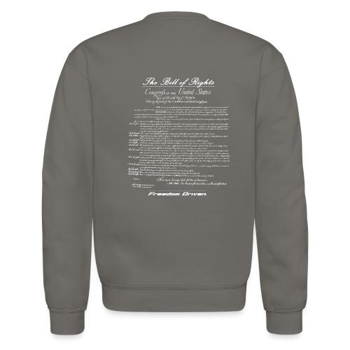 US Bill of Rights White Lettering - Unisex Crewneck Sweatshirt