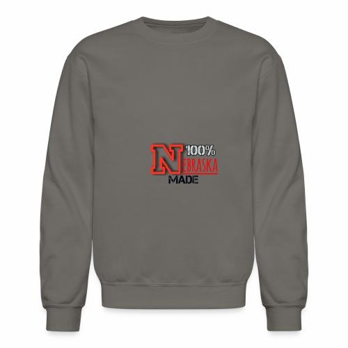 100% Nebraska Made Collection - Crewneck Sweatshirt