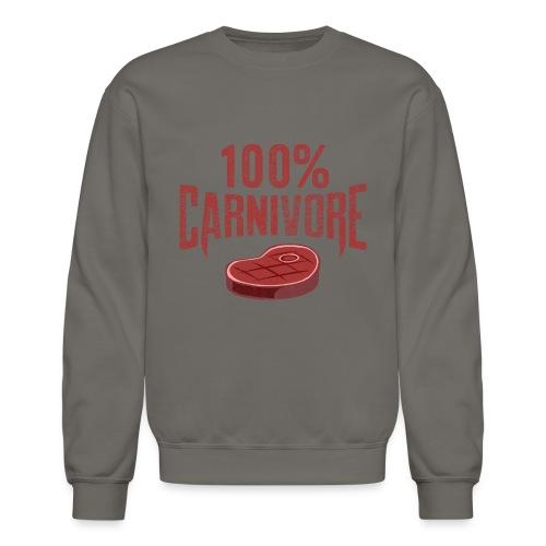100% Carnivore - Crewneck Sweatshirt