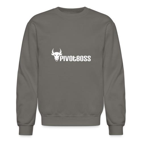 PivotBoss White Logo - Crewneck Sweatshirt