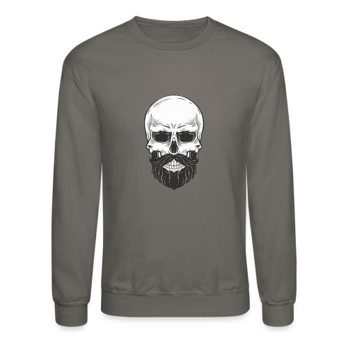 Skull with beard - Crewneck Sweatshirt