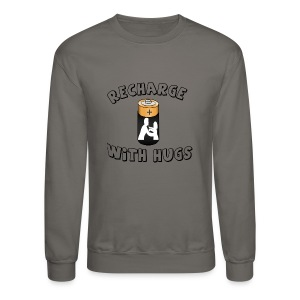 Recharge with hugs - Crewneck Sweatshirt