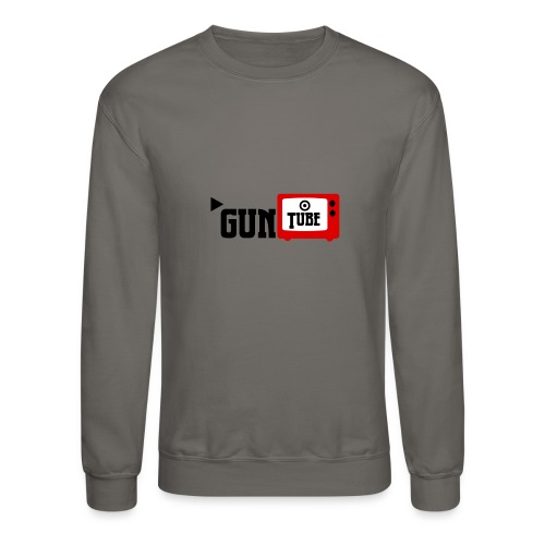 guntube larger logo - Crewneck Sweatshirt