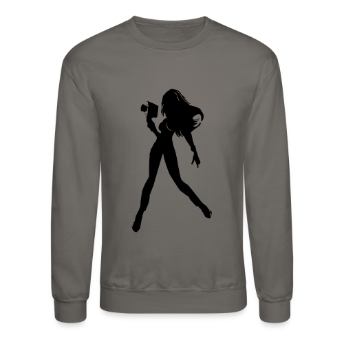 Large Girl Director Silhouette - Crewneck Sweatshirt