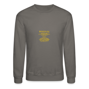 tshirt_pilotVersion_nologo_gold - Crewneck Sweatshirt