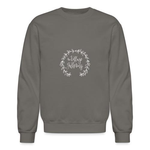 The Village Gathering // White Logo - Crewneck Sweatshirt