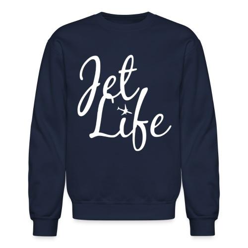 jetlifelogowhite - Crewneck Sweatshirt