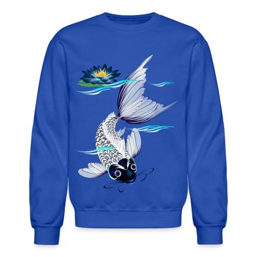 White Koi-Blue Lily - Crewneck Sweatshirt