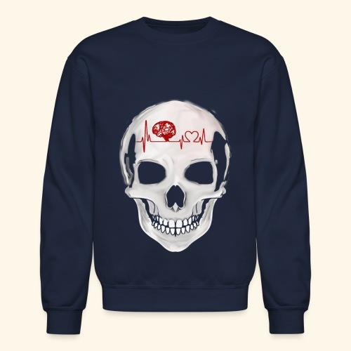 heart beating skull - Crewneck Sweatshirt