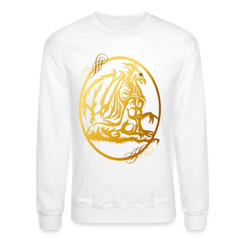 Gold Dragon Oval Design - Crewneck Sweatshirt