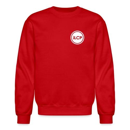 iLCP logo circle white KO - Crewneck Sweatshirt