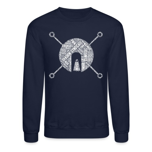 Shad0w Synd1cate Word Cloud (White logo) - Unisex Crewneck Sweatshirt