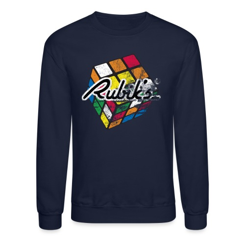 Rubik's Cube Distressed and Faded - Crewneck Sweatshirt
