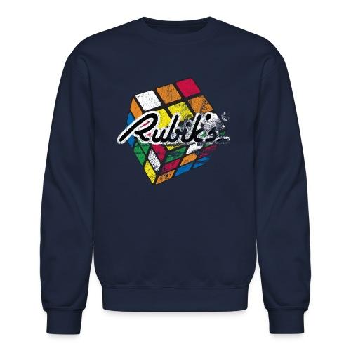 Rubik's Cube Distressed and Faded - Unisex Crewneck Sweatshirt