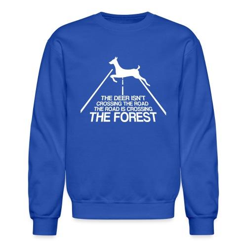 Deer's forest white - Crewneck Sweatshirt