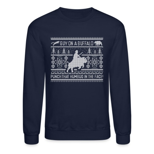 Guy on a Buffalo X-mas 17 - Crewneck Sweatshirt
