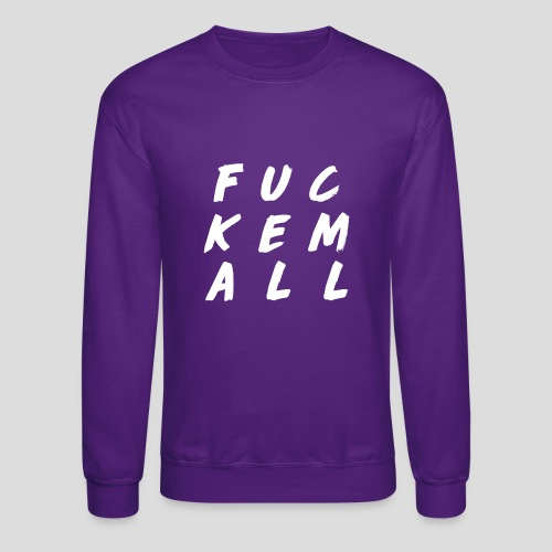 FUCKEMALL White Logo - Crewneck Sweatshirt