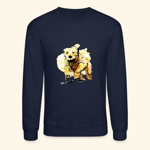 oil dog - Crewneck Sweatshirt