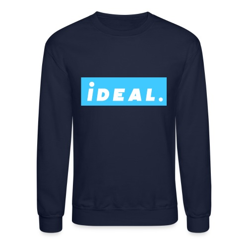 rare ideal blue logo - Crewneck Sweatshirt
