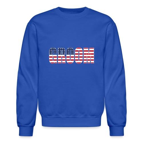 Groom US Flag - Crewneck Sweatshirt