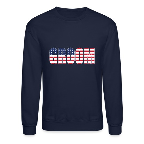 Groom US Flag - Unisex Crewneck Sweatshirt
