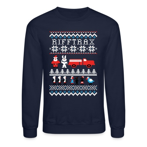 RiffTrax ICB Ugly Sweater - Unisex Crewneck Sweatshirt