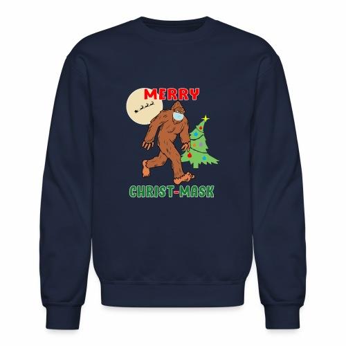 Merry Christmask Sasquatch Mask Social Distance. - Unisex Crewneck Sweatshirt