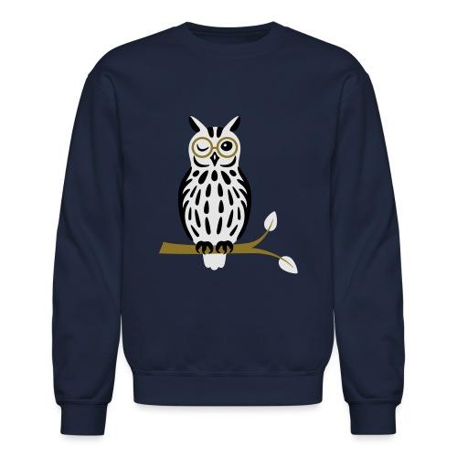 Winky Owl - Unisex Crewneck Sweatshirt