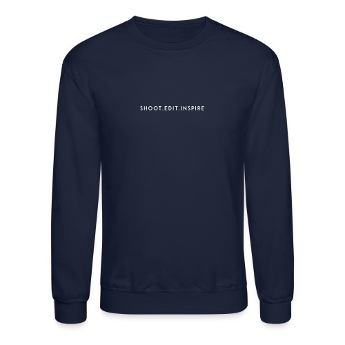 shoot edit inspire large - Crewneck Sweatshirt