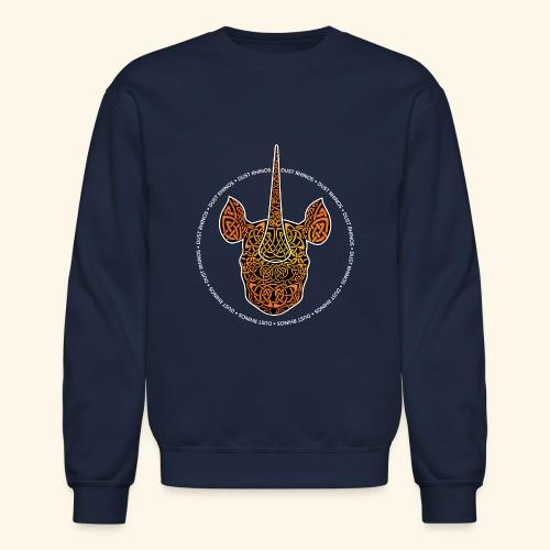Dust Rhinos Orange Knotwork - Crewneck Sweatshirt