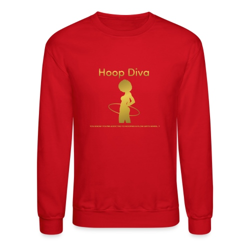 Hoop Diva - Gold - Crewneck Sweatshirt