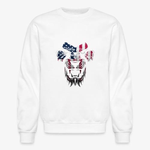 American Flag Lion Shirt - Crewneck Sweatshirt