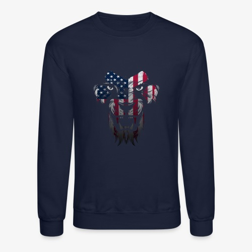 American Flag Lion Shirt - Crewneck Sweatshirt
