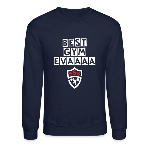 Best Gym Evaaa White and Red - Crewneck Sweatshirt