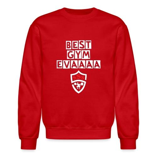 Best Gym Evaaa White and Red - Crewneck Sweatshirt